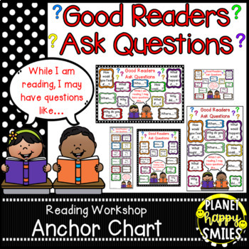 Reading workshop anchor chart amp student by planet happy smiles