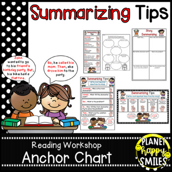 "Reading Workshop Anchor Chart - ""Summarizing"" + Summarizin"