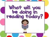 Reading Workshop Dot Signs