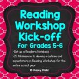 Reading Workshop Kick-off for Grades 5-6