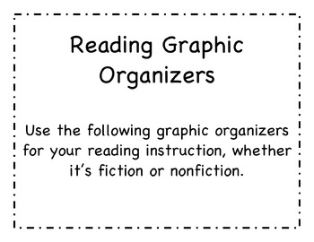 Reading and Writing Graphic Organizers, Templates, Activit