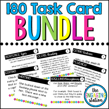 132 Secondary Reading/Writing Task Card BUNDLE