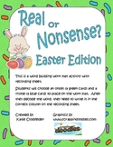 Real or Nonsense?-Easter Edition