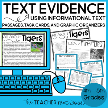 Reasons and Evidence Using Informational Text: Common Core 4th and 5th Grades
