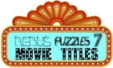 """Rebus """"Wuzzle"""" Puzzle Worksheet 7 - LET'S GO TO THE MOVIES"""