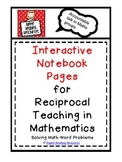 Reciprocal Teaching in Math Interactive Notebook Pages