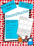 Reconstruction Vocabulary Word Sort