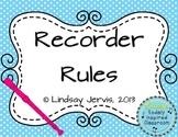 Recorder Rules {Polka Dots}