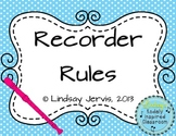Recorder Rules {Polka Dots}