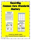 Recording Common Core Standards Mastery