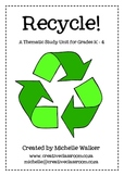 Recycling Thematic Unit
