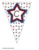 Red, White, and Blue Patriotic Themed Buntings- Customize