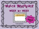 Reference Skills Week to Week