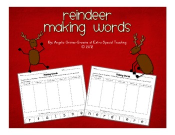 Reindeer Making Words
