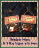 Reindeer Noses Gift Bag Topper