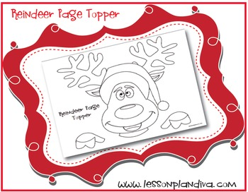 Reindeer Page Topper