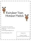 Reindeer Teen Number Match