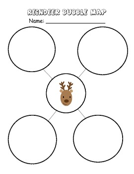 Reindeer bubble map freebie