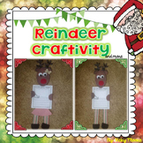 Reindeer craftivity and fun pack