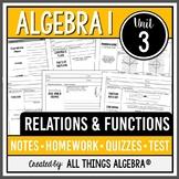 Algebra 1: Relations & Functions (Unit 3) - Unit Bundle!