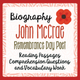 Remembrance Day - John McCrae, Informational Texts Activit