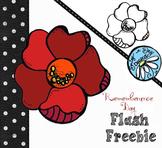 Remembrance Day Poppy Freebie