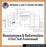 Renaissance & Reformation Unit Test Multiple Choice and Essay