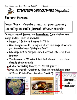 "Renaissance with a ""Tech-y Twist"" - Explorer Activity"