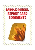 Report Card Comments for Middle School Social Studies