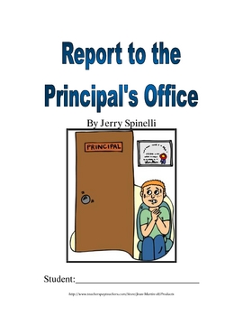 Report to the Principal's Office, by Jerry Spinelli: A Boo