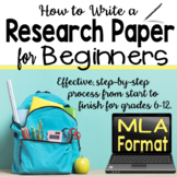 Research Paper for Beginners - MLA