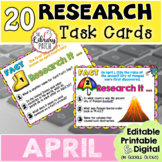 Research Task Cards for April