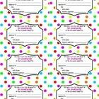 Resizable Polka Dot Homework Pass
