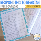 Responding to Reading: Reader's notebooks and monitoring c