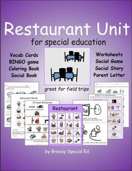 Restaurant Community Trip Unit for Special Education