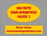 Restaurant Math Volume 2