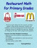 Restaurant Math for Primary Grades