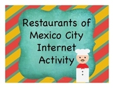 Restaurants of Mexico City Internet Activity