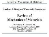 Review of Mechanics of Materials
