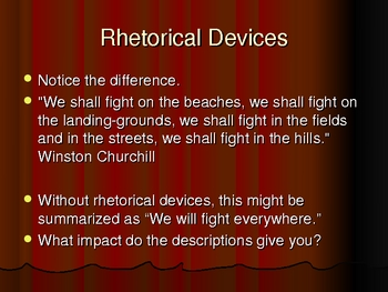Rhetorical Devices Powerpoint