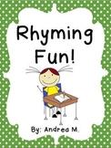 Rhyming Fun! Activity Pack