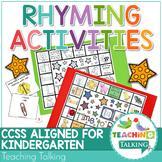 Rhyming Games & Worksheets - Phonemic Awareness - CCSS Ali