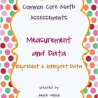 Rigorous Common Core Math Assessments Measurement and Data