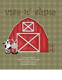 Rise 'N Shine Math and Literacy Centers (Common Core Stand