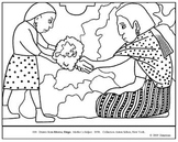 Rivera, Diego.  Mother's Helper.  Coloring page and lesson