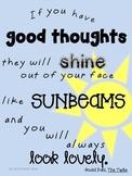 "Roald Dahl Quote ""Sunbeams"" Poster"
