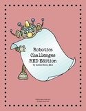 Robot Challenge Cards- SET of 5 (Red Edition)