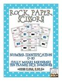 Rock, Paper, Scissors: Number Identification 0-10 {Subitiz