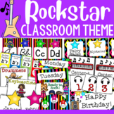 Rock and Roll Themed Classroom Decor and Organizational Pack