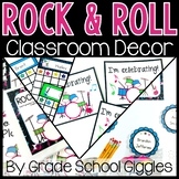 Rock and Roll Themed Editable Classroom Organization Pack